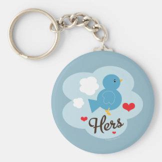 Matching Hers Love Bird Keychain