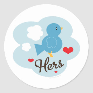 Matching Hers Love Bird Stickers