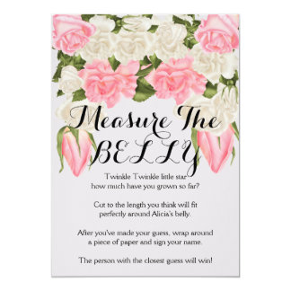 Matching Measure the Belly Game Instructions Card
