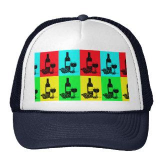 Matching Modern Wine Art Hat and Tie