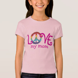 Matching Mom and Daughter Clothes - Peace & Love T T-shirts