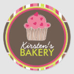 Matching Whimsical Bakery Stickers