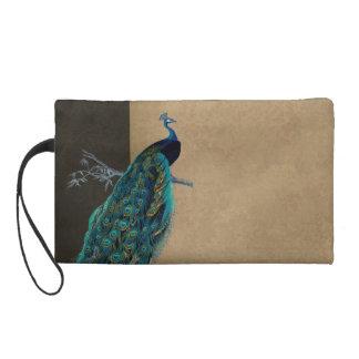 Matching Wristlet - Teal Vintage Peacock 8