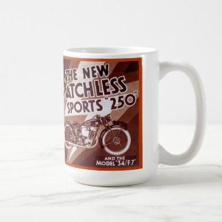 Matchless motorcycle sport 250 classic white coffee mug