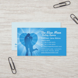 Matchmaking business cards zazzle uk matchmaker dating agency blue business card colourmoves