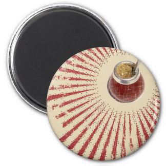 mate gourd - sunburst 6 cm round magnet