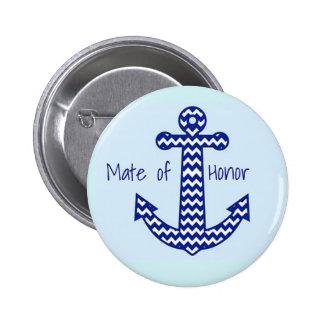Mate of Honour Nautical Bachelorette Pin