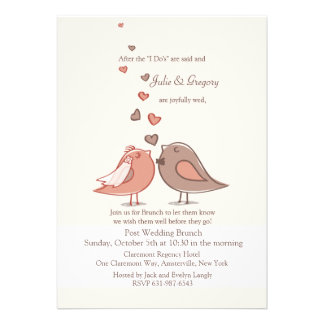 Mated Post Wedding Brunch Invitation