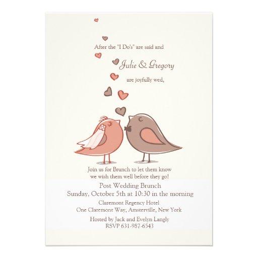 mated post wedding brunch invitation 13 cm x 18 cm invitation card