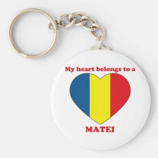 Matei Basic Round Button Key Ring