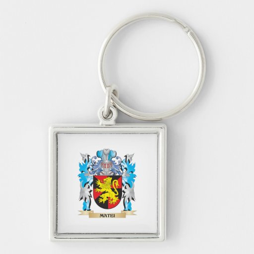 Matei Coat of Arms - Family Crest Keychain
