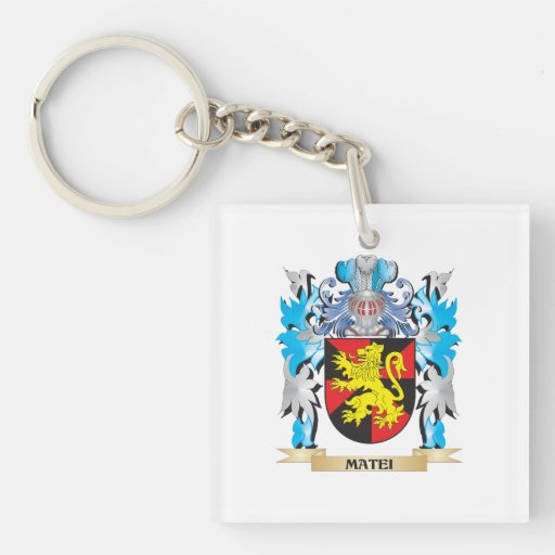 Matei Coat of Arms - Family Crest Keychains
