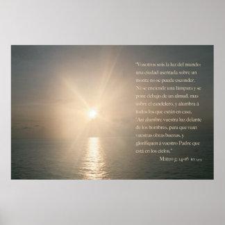Mateo 5: 14-16 (Version Horizontal) Poster