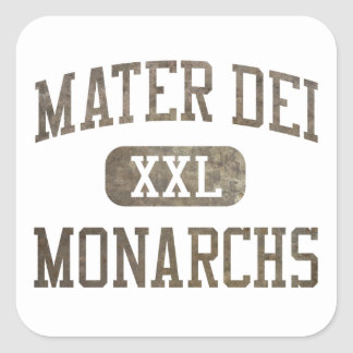 Mater Dei Monarchs Athletics Square Sticker