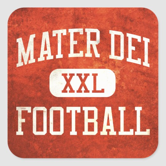 Mater Dei Monarchs Football Square Sticker