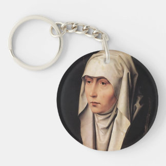 Mater Dolorosa by Hans Memling Keychain