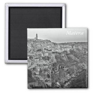 Matera in Basilicata, Italy Square Magnet