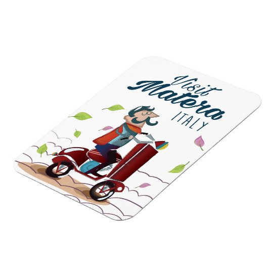 Matera Italy Cartoon Scooter travel print Rectangular Photo