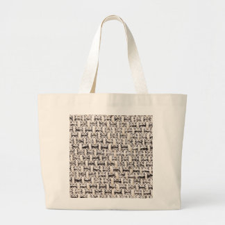 Material background large tote bag