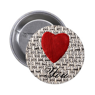 Material background Love you 6 Cm Round Badge