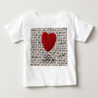 Material background Love you Baby T-Shirt