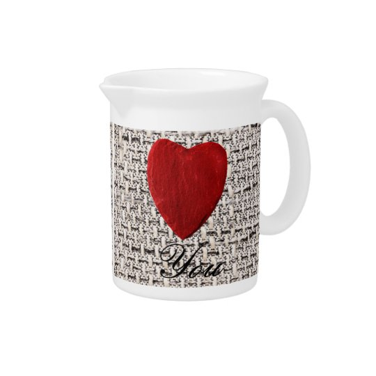 Material background Love you Beverage Pitchers