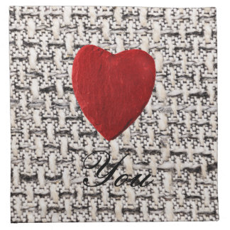 Material background Love you Napkin