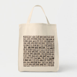 Material background tote bag
