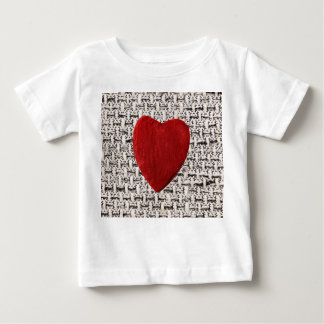 Material background with heart baby T-Shirt