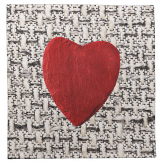 Material background with heart napkin