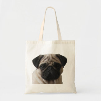 Material bag, nature, pug tote bag