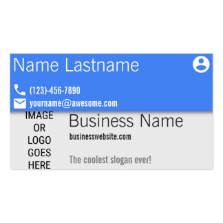 Material Design Blue Business Pack Of Standard Business Cards