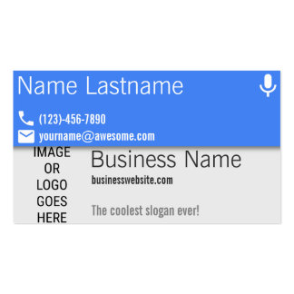 Material Design Blue Microphone Pack Of Standard Business Cards