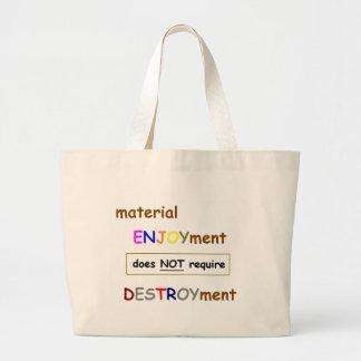 Material Enjoyment Tote Jumbo Tote Bag