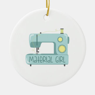 Material Girl Christmas Ornament