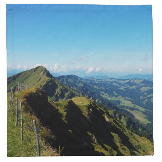Material napkins alps with upper baptism in the