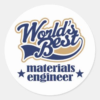 Materials Engineer Gift Round Sticker