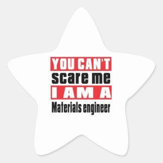 Materials engineer scare designs star sticker