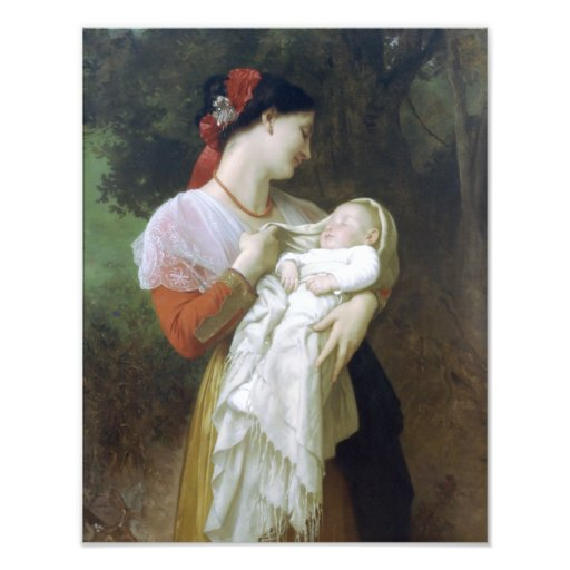 Maternal Admiration by William Adolphe Bouguereau Photographic Print
