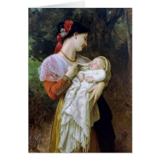 Maternal Adoration Vintage Art Greeting Card