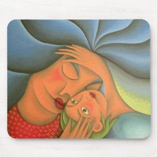 Maternidad pintura óleo arte. Mom, mother Mouse Pad