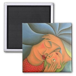 Maternidad pintura óleo arte. Mom. Square Magnet