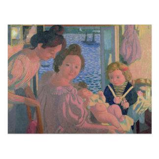 Maternity at Pouldu, Evening Postcard