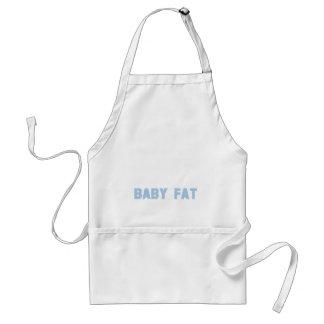 Maternity Baby Fat Blue Standard Apron