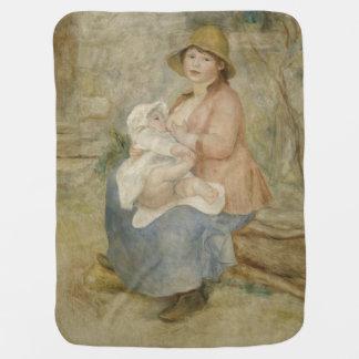 Maternity by Pierre-Auguste Renoir Stroller Blankets
