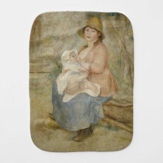 Maternity by Pierre-Auguste Renoir Baby Burp Cloth