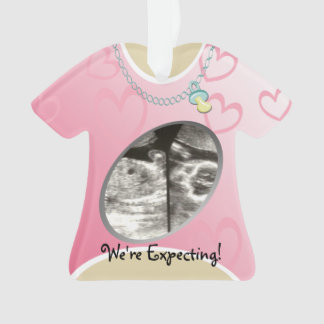 Maternity Shirt Pink Baby Announcement