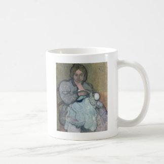 Maternity with a White Dress Coffee Mug