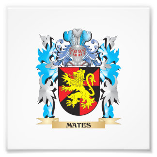 Mates Coat of Arms - Family Crest Photograph