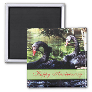 Mates for Life Black Swans Anniversary Magnet